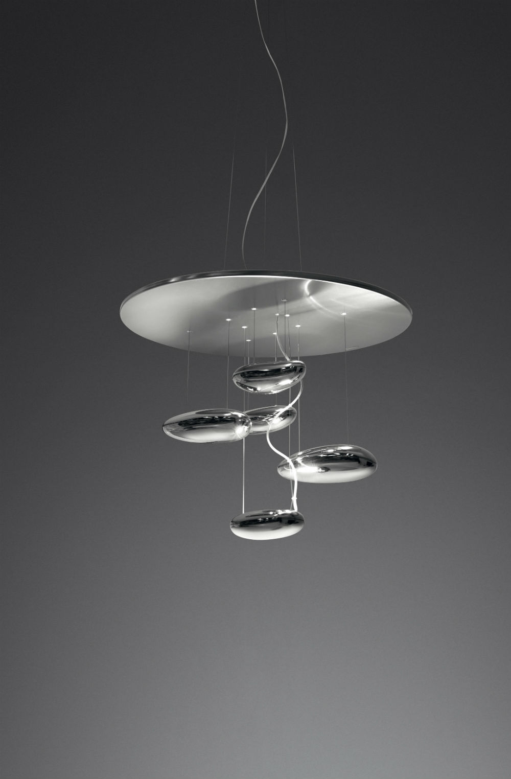 Mercury Mini Pendant lamp 70cm R7s 160w Stainless steel