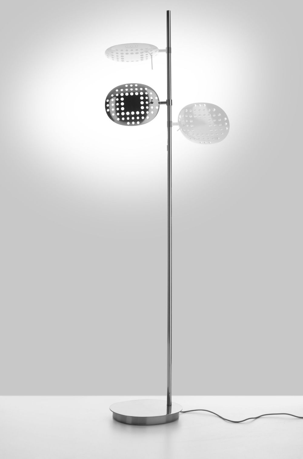Reall Floor lamp LED 40w 3000K dimmable Polished Aluminium