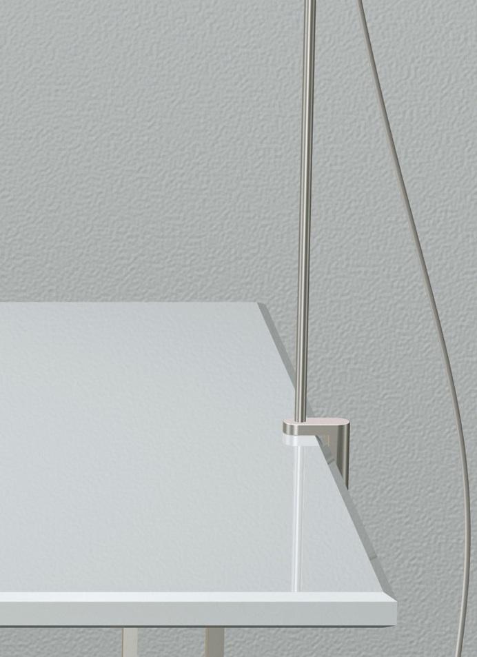 Talak Accesorio Mordaza para Talak mesa Aluminio Brillante