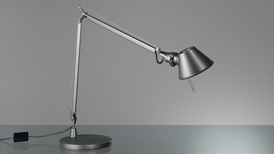 Tolomeo Midi LED Lampe de table 9w LED organisme Lampe Gris anthracite