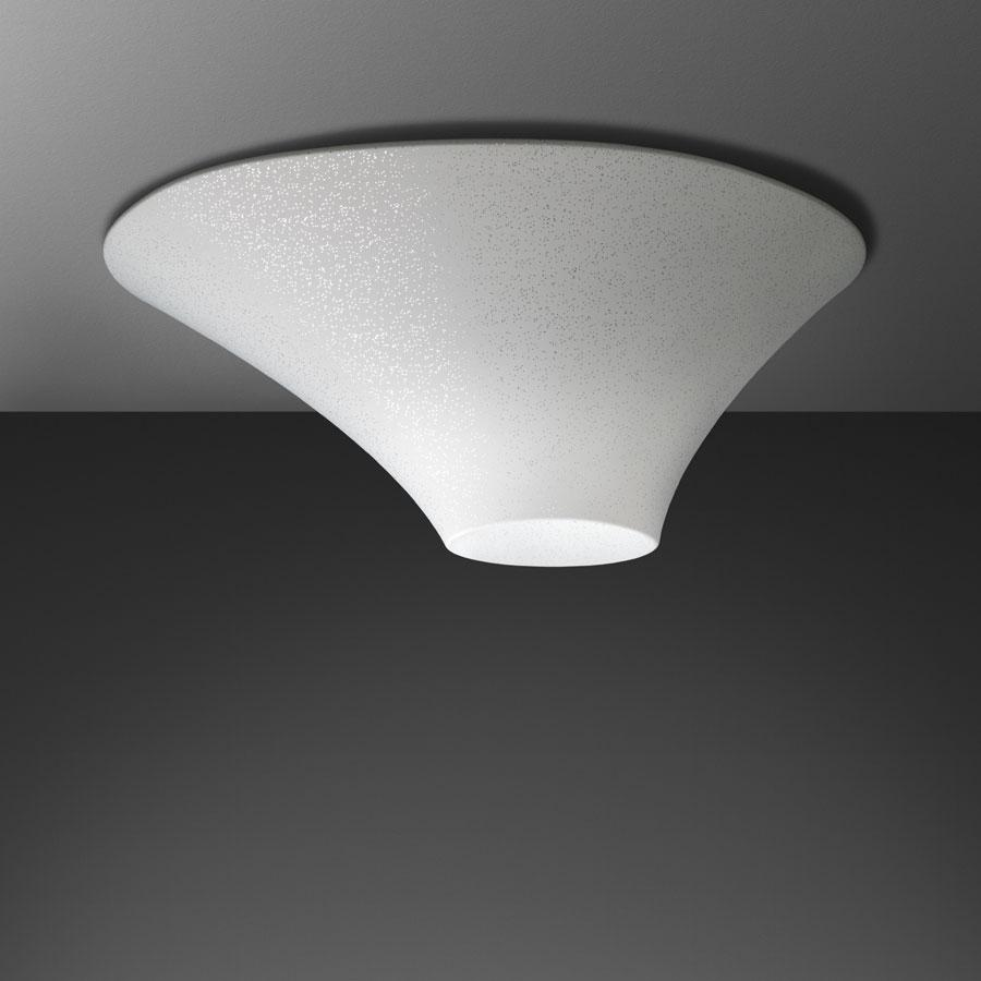 Alicudi Wall/Ceiling lamp in White with silver drops