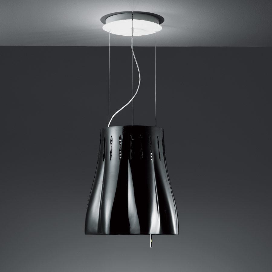 Azio Pendant Lamp multifunción, with Filter of purificación of aire Black