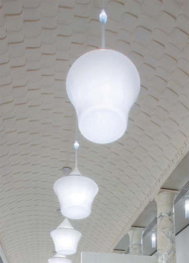 Calenda Pendant Lamp ø93cm 4x55w 2G11 + 1,2w LED white