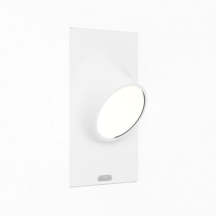 Ciclope Wall Lamp Recessed Outdoor 15,8x26cm LED 6w IP65 Grey Claro