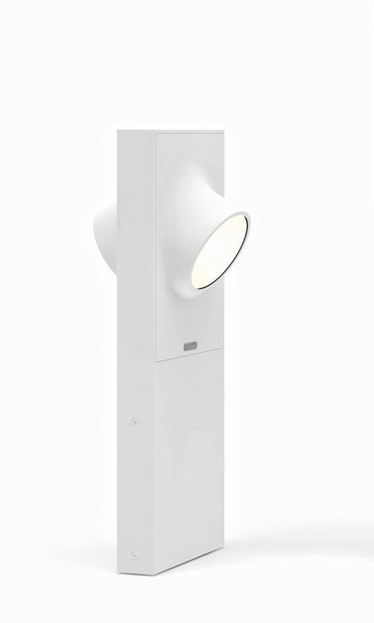 Ciclope lámpara de Pie Doble Exterior 50cm LED 2x6w IP65 gris Claro