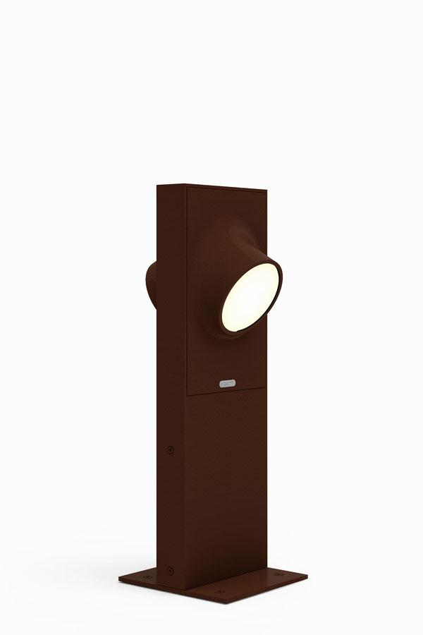 "Ciclope lámpara de Pie Doble Exterior 50cm LED 2x6w IP65 Ã""xido"