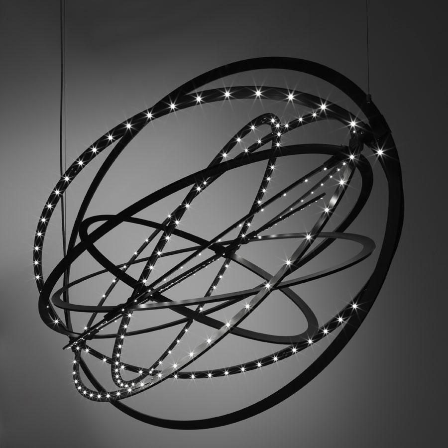 Copernico Pendant lamp 104cm 38w LED 3000K black