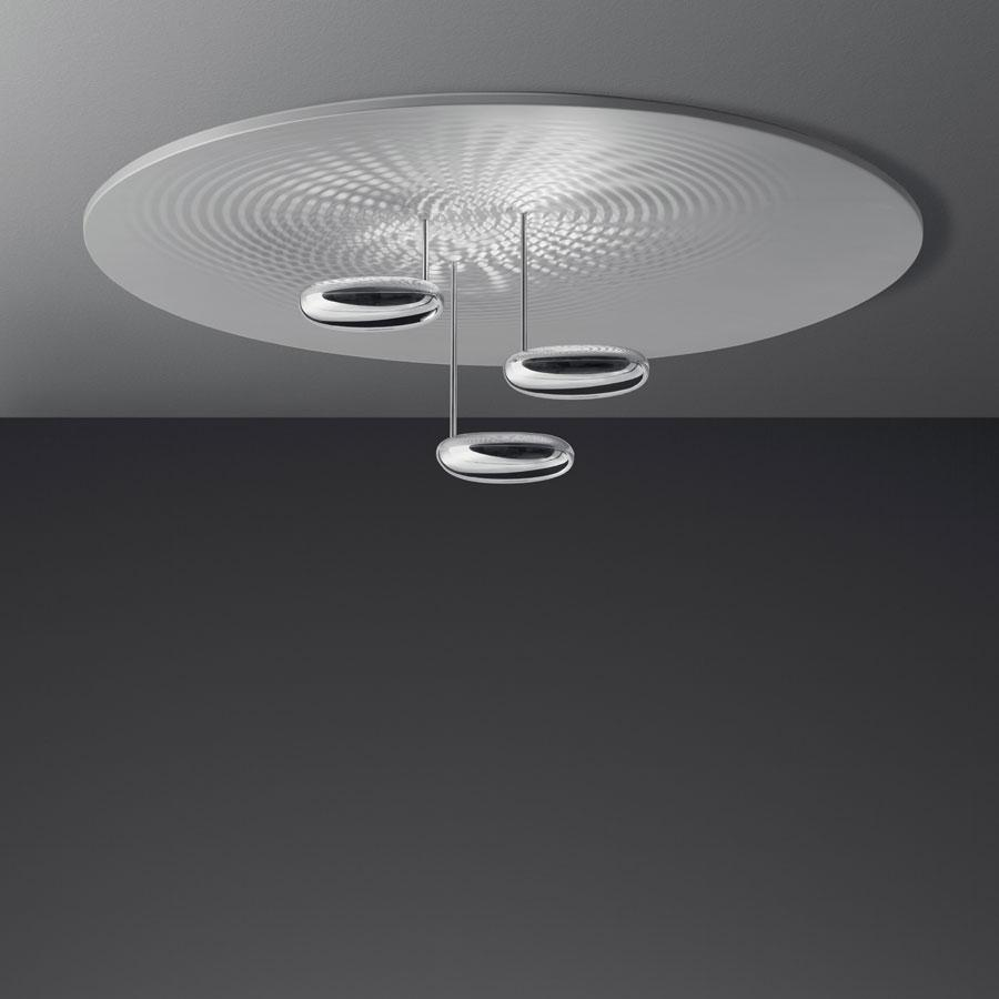 Droplet plafonnier LED Aluminium/Chrome