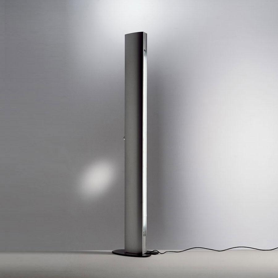 Echos lámpara de Pie gris metalizado