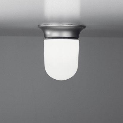 Illo Plafón Cuerpo Lámpara gris con Difusor Cristal.