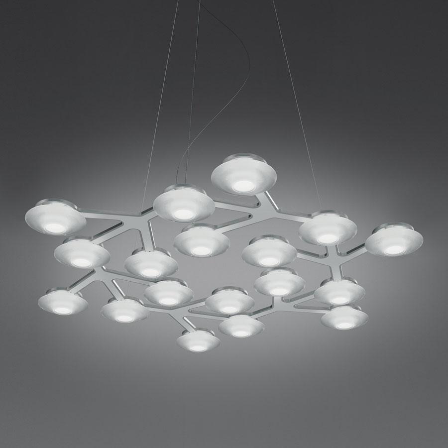 Led Net Lâmpada pingente circular 17 LED 39w branco Lúcido