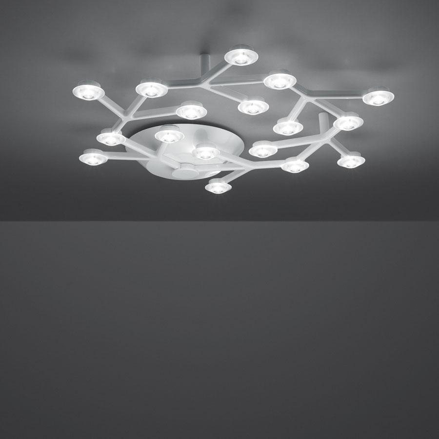 Led Net lâmpada do teto circular ø65cm 17 LED 39w branco Lúcido