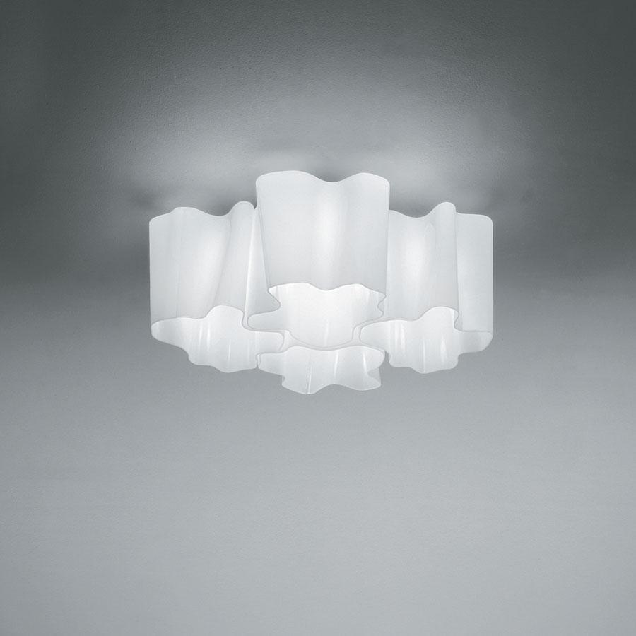 Logico ceiling lamp mini 4x90ú, Diffuser silk lúcido