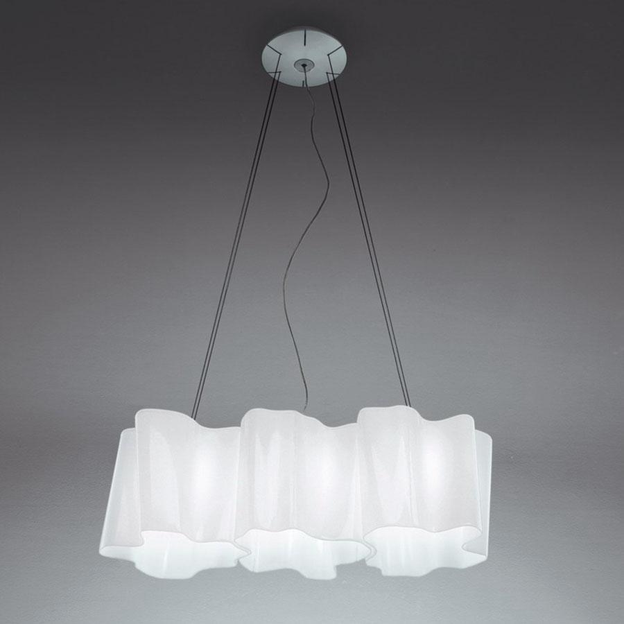 Logico Lámpara Colgante micro 3 en linea 3xE27 46W Blanco