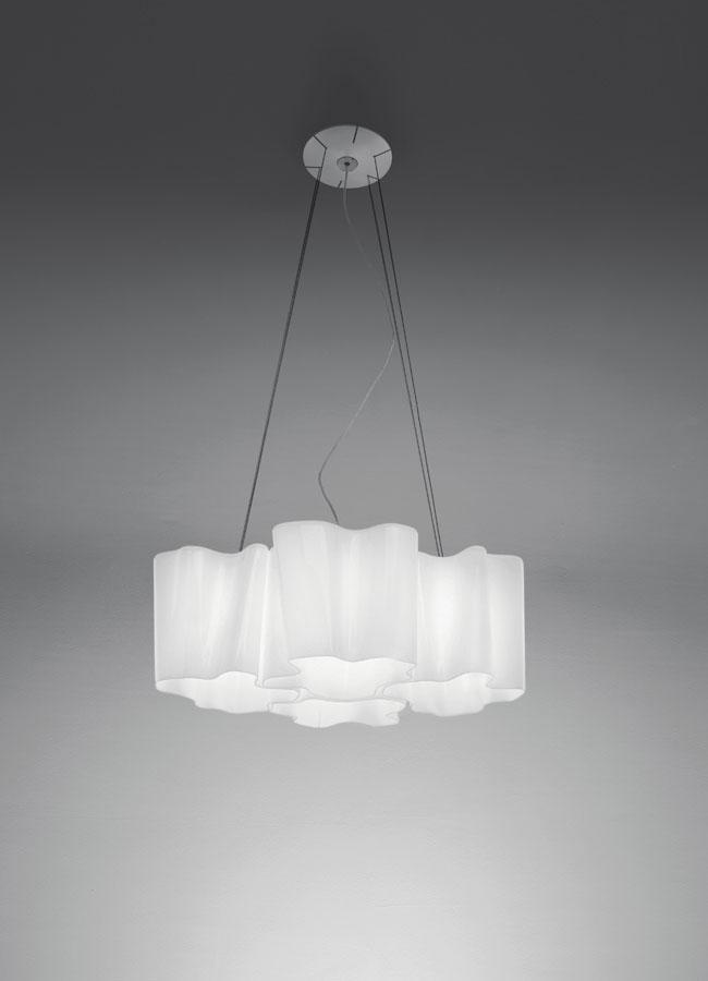 Logico Lámpara Colgante micro 4x90° Difusor seda lúcido