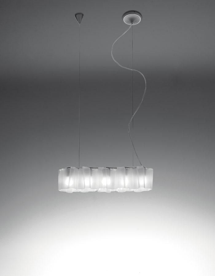 Logico Pendant Lamp micro 5 in linea Diffuser silk lúcido