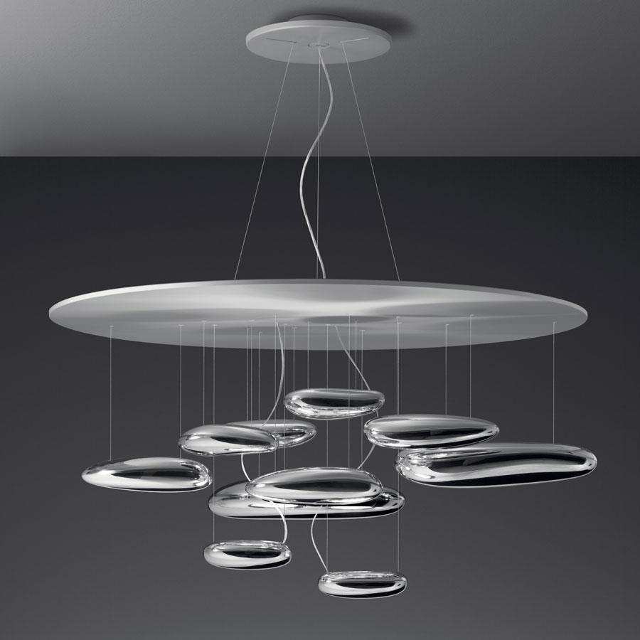 Mercury Pendant Lamp ø110cm 2x160w R7s Aluminium metallized