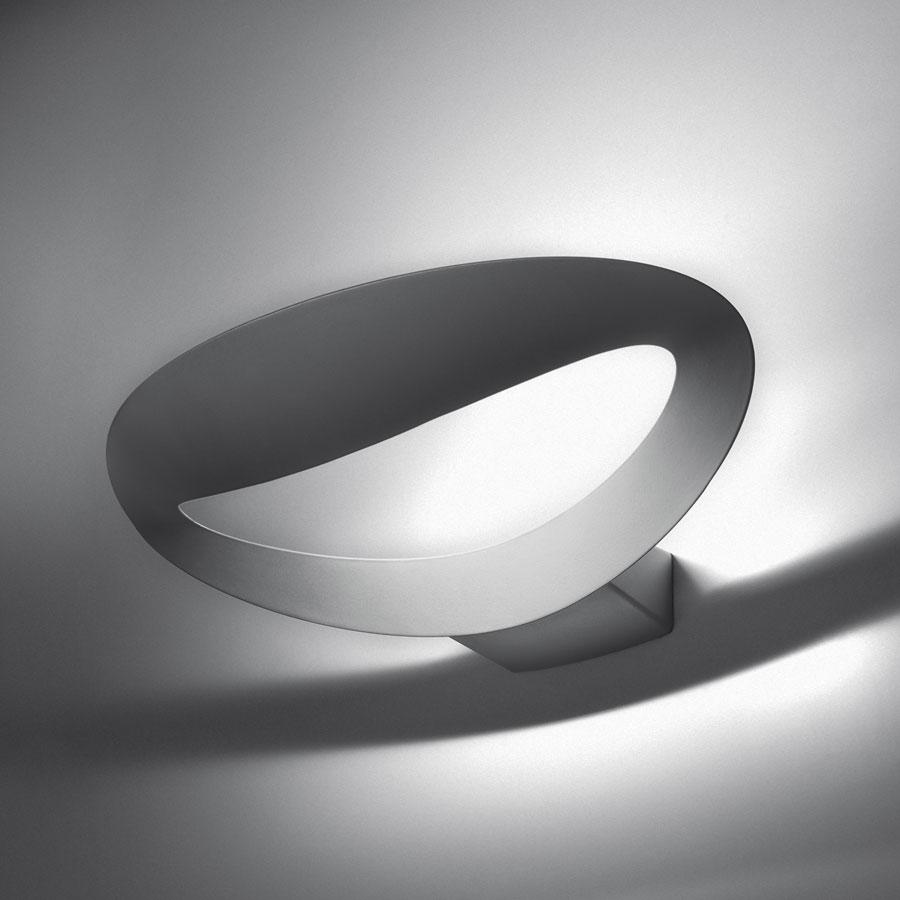 Mesmeri Wall lamp metal halides G8,5 1x35w Silver