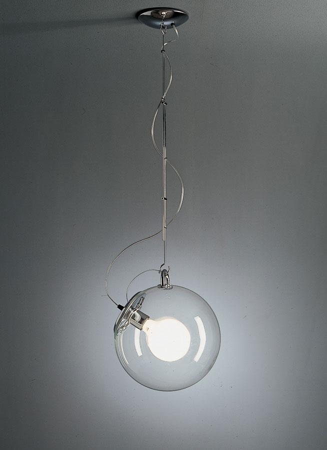 Miconos Lámpara Colgante 23W Difusor Cristal Transparente