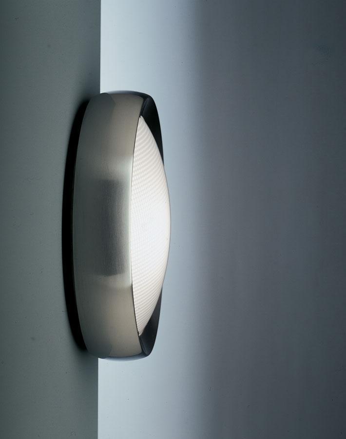 Niki Aplique/Plafón Difusor en Cristal estampado prismático/Satinado c/emerg.