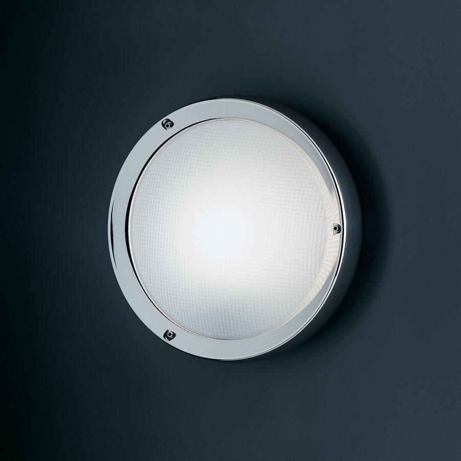 Niki Wall lamp/ceiling lamp Diffuser en polycarbonate, antigolpes body inox lúcido