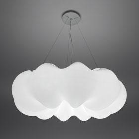 Nuboli Pendant lamp 6x55w 2G11 (FL) opal white