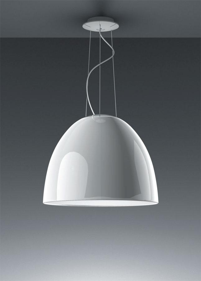 Nur Gloss Lámpara Colgante ø55cm HIT E27 1x100w blanco Brillante