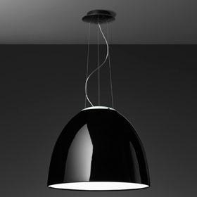 Nur Gloss Lámpara Colgante ø55cm HIT E27 1x100w negro Brillante