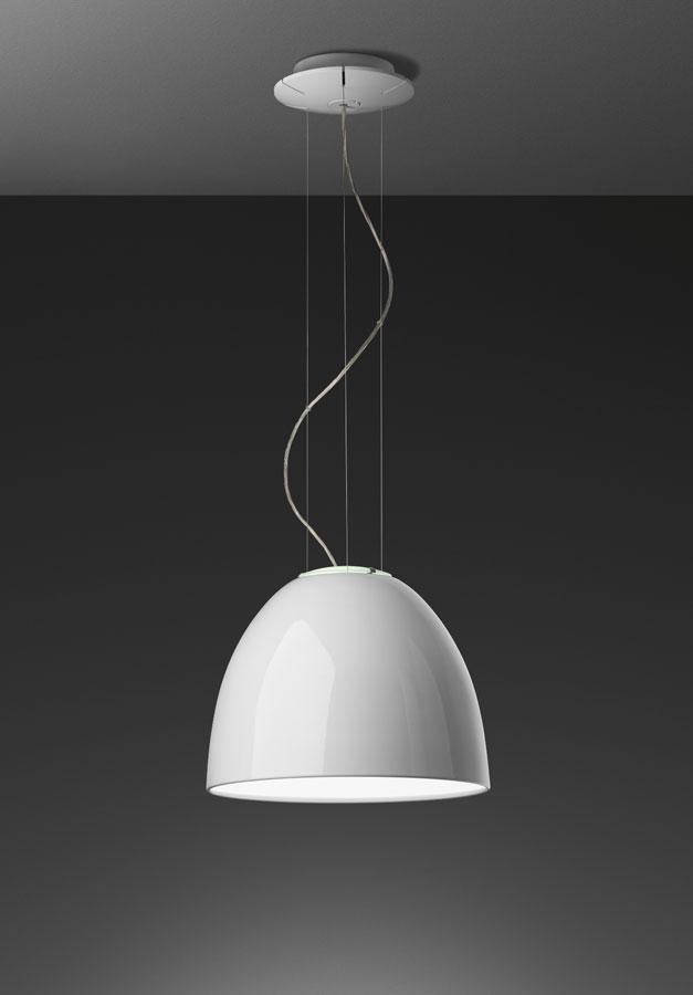 Nur Mini Gloss Pendant lamp ø36cm E27 1x150w Bright white