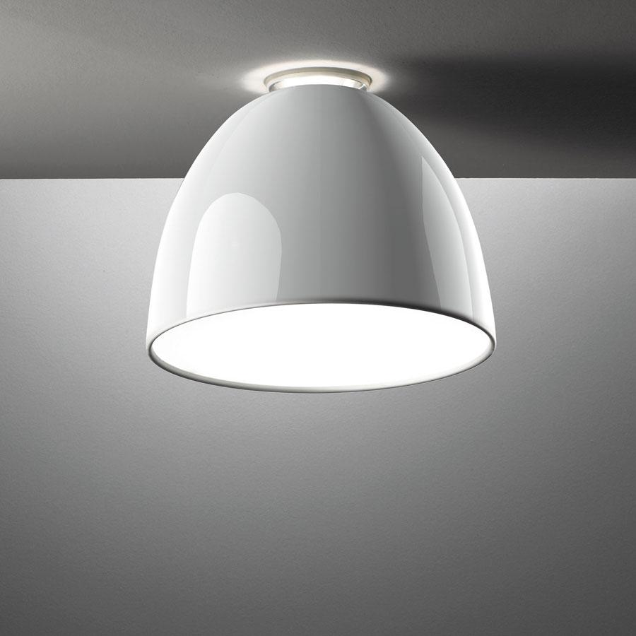 Nur Mini Gloss Ceiling lamp ø36cm E27 150w Bright white