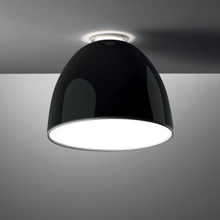 Nur Mini Gloss soffito ø36cm E27 150w Nero Lucente