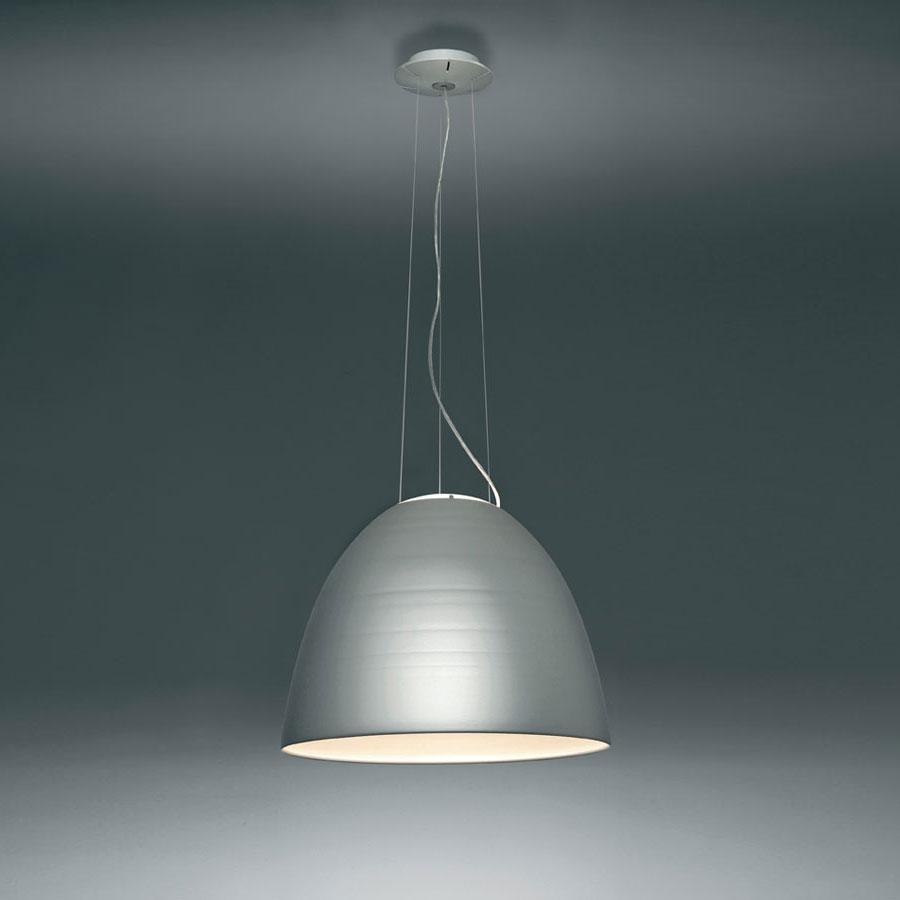 Nur Lampada a sospensione ø55cm E27 1x205w Grigio Alluminio Anodizzato
