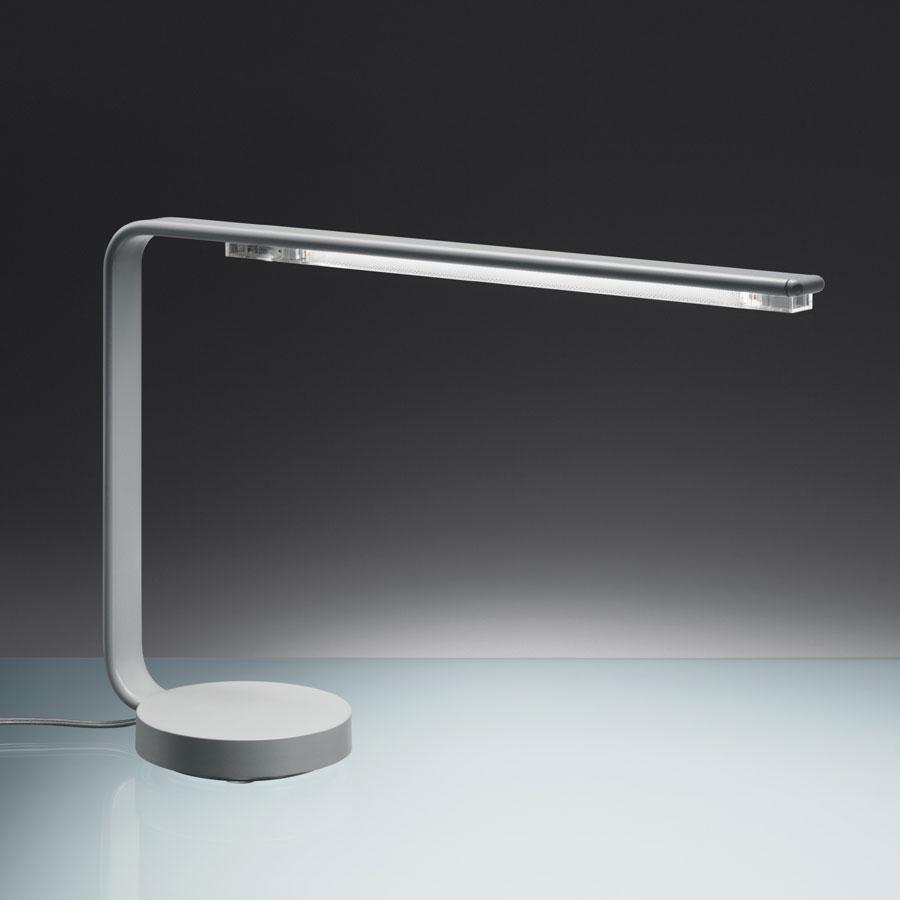 One Line Sobremesa Estructura en Aluminio, pantalla en Transparente