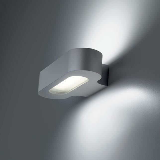 Talo Aplique Fluorescente 1x28w G24q-2 gris Plata