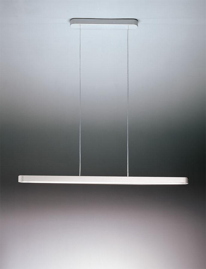Talo Pendant lamp 1x80w Fluorescent linear, not adjustable Silver