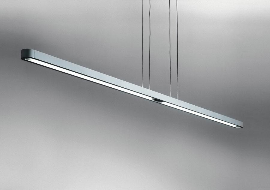Talo Pendant lamp (180, 240) 2x39w Fluorescent linear adjustable Silvergrey