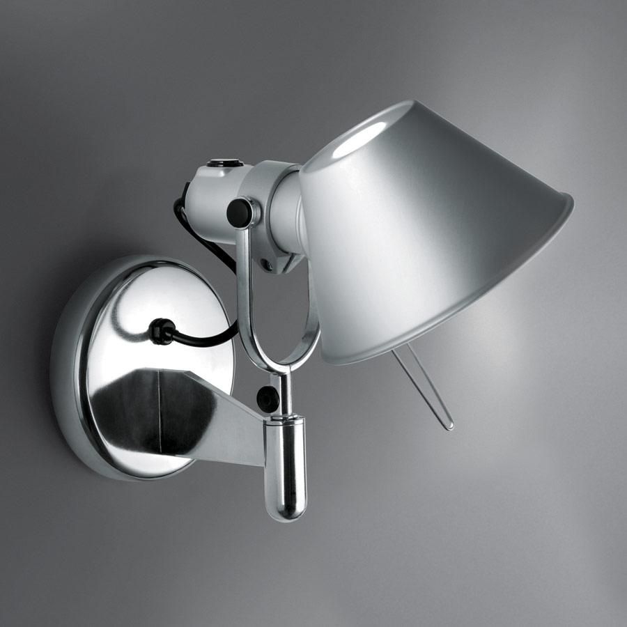 Tolomeo Faretto Aplique halógena 1x77w E27 con interruptor on/off - Aluminio