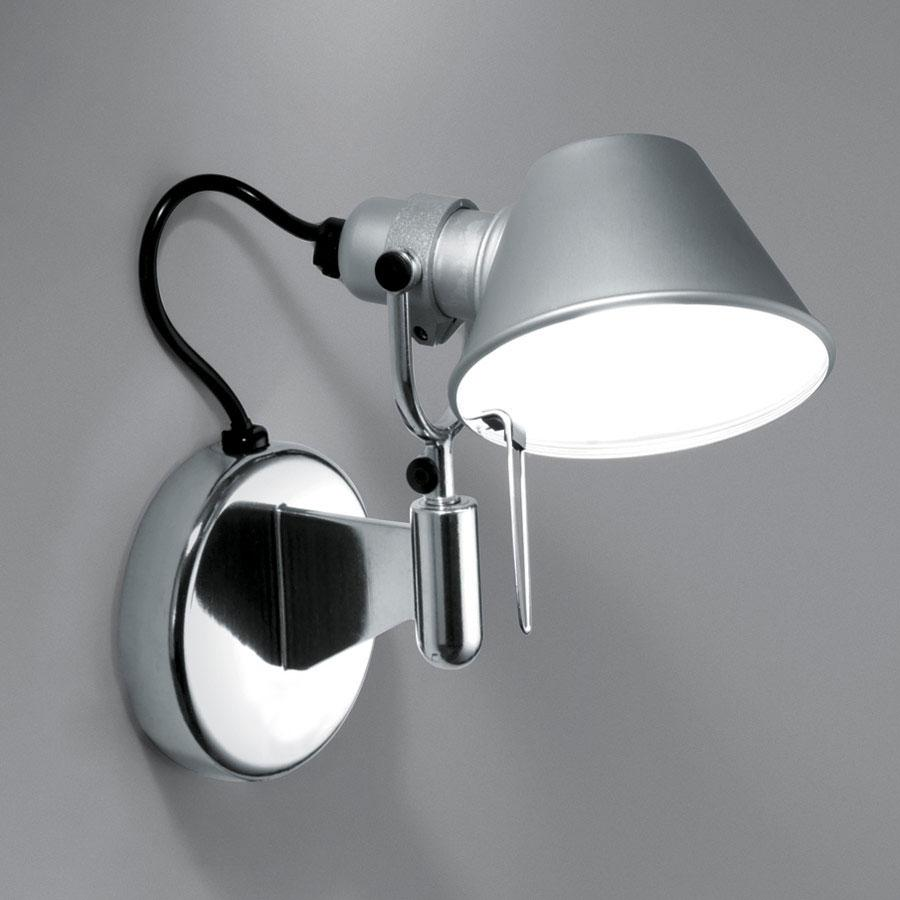 Tolomeo Micro Faretto Wall Lamp halógena 1x46w E14 without switch - Aluminium