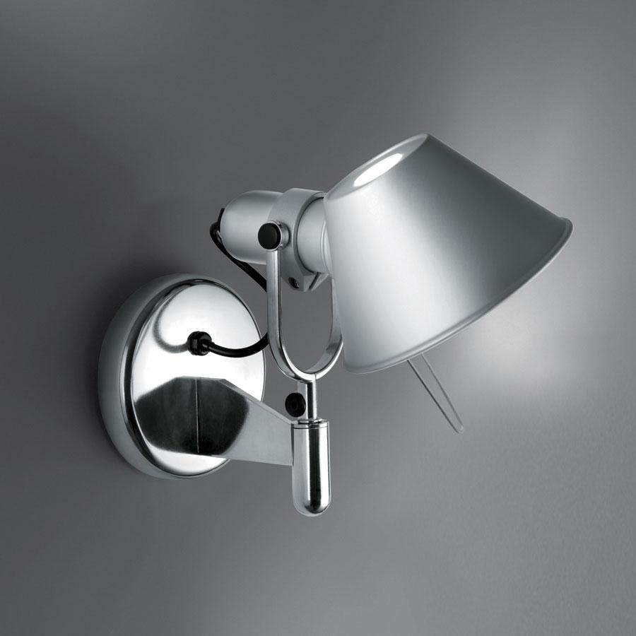 Tolomeo Faretto Applique halógena 1x77w E27 sans commutateur on/off - Aluminium