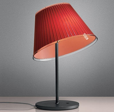 Choose Table Lamp Fluorescent Diffuser en polipropileno Red