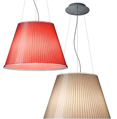 Choose Mega Pendant Lamp incandescent parchment paper covering