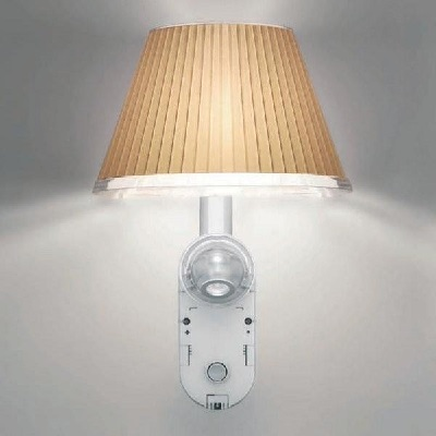 Choose Aplique + LED Estructura gris Aluminio, Difusor pergamino New LED