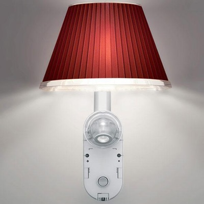 Choose Aplique + LED Estructura gris Aluminio, Difusor Rojo New LED