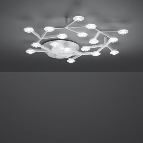 LED Net ceiling lamp circular LED 43W dimmable - white Shiny
