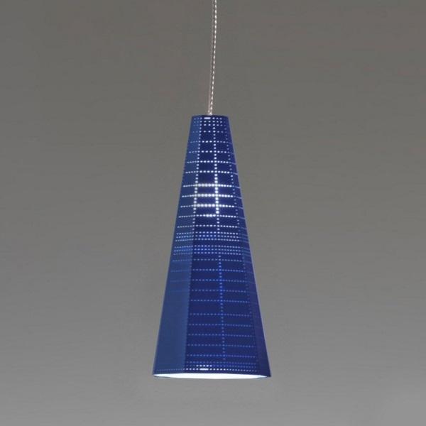 Null Vector Alfa Lámpara Colgante Azul 1x6W LED