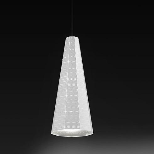 Null Vector Alfa Lámpara Colgante blanco 1x6W LED