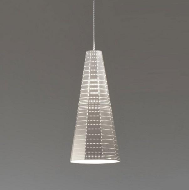 Null Vector Alfa Lámpara Colgante gris Aluminio 1x6W LED