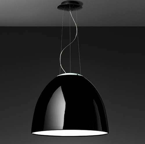 Nur Gloss LED lampe Suspension Noir