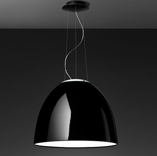 Nur Gloss LED Lámpara Colgante negro