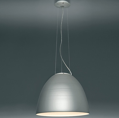 Nur LED lampe Suspension Gris anthracite